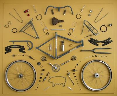 Teile eines Rades